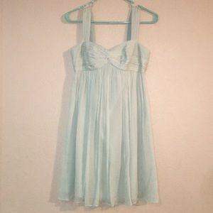 Green J. Crew Size 0P sleeveless Mini Dress